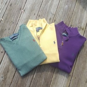 Lot of 3 Mens Polo Ralph Lauren Sweaters